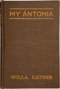 Books:First Editions, Willa Sibert Cather. My Ántonia. With illustrations by W. T.Benda. Boston and New York: Houghton Mifflin Company, 1...