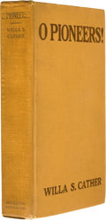 Books:First Editions, Willa Sibert Cather. O Pioneers! Boston and New York:Houghton Mifflin Company, 1913....