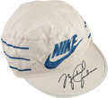 Basketball Collectibles:Others, Circa 1985 Michael Jordan Signed Nike Cap, PSA NM-MT 8....