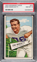 Football Cards:Singles (1950-1959), 1952 Bowman Large Gino Marchetti #23 PSA NM-MT 8....