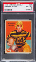 Football Cards:Singles (Pre-1950), 1935 National Chicle Warren Heller #20 PSA NM-MT 8....