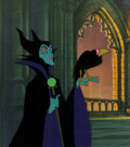 Animation Art:Production Cel, Sleeping Beauty Maleficent Production Cel Setup (WaltDisney, 1959)....