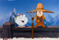 "Animation Art:Limited Edition Cel, Beauty and the Beast ""American Gothic"" Cogsworth and Mrs. Potts Employee-Only Limited Edition Cel #37/58 (Walt Disney,..."