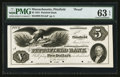 Obsoletes By State:Massachusetts, Pittsfield, MA - Pittsfield Bank $5 1853 Proof. ...
