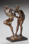Fine Art - Sculpture, American:Modern (1900 - 1949), HARRIET WHITNEY FRISHMUTH (American, 1880-1980). Rhapsody,1925. Bronze with brown patina. 12 inches (30.5 cm) high on a...