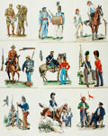Books:Prints & Leaves, [War.] Large Lot of Plates Depicting Scenes from 19th Century Wars.Various publishers and dates. Lot includes black and whi...