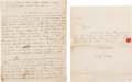 Autographs:Military Figures, [Revolutionary War]. Captain Nathaniel Pendleton Autograph Letter Signed with a Manuscript of His Memoirs.... (Total: 2 Items)