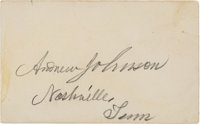 Andrew Johnson Card Signed