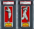 Baseball Cards:Lots, 1951 Topps Connie Mack All-Stars PSA Pair (2). ...