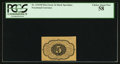 Fractional Currency:First Issue, Fr. 1231SP 5¢ First Issue Narrow Margin Back PCGS Choice About New 58.. ...