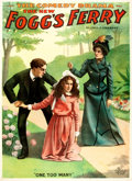 """Books:Prints & Leaves, [Americana.] Theatrical Poster for """"The New Fogg's Ferry."""" EnquirerJob Printing Co., 1893...."""