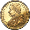 Italy:Papal States, Italy: Papal States. Gregory XVI gold 5 Scudi 1836-R MS63 NGC,...