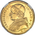 Italy:Papal States, Italy: Papal States. Gregory XVI gold 10 Scudi 1840-R Anno X MS62NGC,...