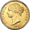 East India Company, East India Company: British India. East India Company - Victoria gold Mohur 1841.-(C) AU Details (Removed From Jewelry) NGC,...
