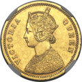 India:British India, India: British India. Victoria gold Mohur 1862-(c) AU Details (Removed from Jewelry) NGC,...