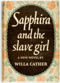 "Books:Literature 1900-up, Willa Cather. ADVANCE REVIEW COPY. Sapphira and the Slave Girl. New York: Alfred A. Knopf, 1940. First edition, ""Com..."