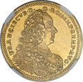 German States, German States: Hall in Swabia. Free City gold Ducat 1746-CGL MS61NGC,...
