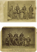 Photography:CDVs, Pair of Staff Photographs - General Sherman & Gov. Buckingham. This pair of cartes de visite feature two groups of staff... (Total: 2 )