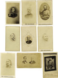 "Photography:CDVs, Twenty-One Confederate States Related Cartes de Visite. Contains eight ""from life"" photographs and thirteen engravings; ... (Total: 21 items)"