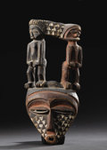 African: , Pende (Eastern) (Democratic Republic of Congo). Face Mask (Munyangi or Kindjinga). Wood, pigment. Height: 13 ½ inche...
