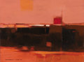 Texas:Early Texas Art - Modernists, DEFORREST JUDD (1916-1992). Red Landscape, Taos, 1967.Acrylic. 12in. x 16in.. Signed and dated lower left. Signed,date...