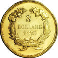 Proof Three Dollar Gold Pieces: , 1875 $3 PR64 PCGS. In 1977, Walter Breen wrote in his Encyclopedia of United States and Colonial Proof Coins that the 1...
