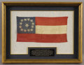 Military & Patriotic:Civil War, General S. S. Lee's Confederate Navy Flag- The Only Lee Family Flag still in Private Hands. Confederate 1st National Flag fr...
