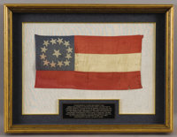 General S. S. Lee's Confederate Navy Flag- The Only Lee Family Flag still in Private Hands. Confederate 1st National Fla...