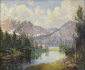 Texas:Early Texas Art - Impressionists, PETER HOHNSTEDT (1871-1957). Untitled Landscape. Oil on canvas.22in. x 26.75in.. Signed lower right. A mountain lake scen...