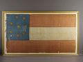 Military & Patriotic:Civil War, Confederate 'Stars and Bars' 18th Tennessee Infantry Flag; Captured at Fort Donelson. This striking and beautiful silk Confe...