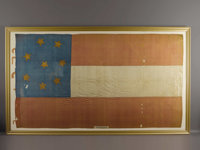 Confederate 'Stars and Bars' 18th Tennessee Infantry Flag; Captured at Fort Donelson. This striking and beautiful silk C...