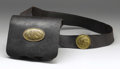 Military & Patriotic:Civil War, Leather U.S. Cartridge Box, Shoulder Strap and Buckles. This is a fine example of a .58 caliber U.S. cartridge box complete ...