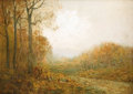 Texas:Early Texas Art - Impressionists, JULIAN ONDERDONK (1882-1922). November Afternoon, 1909. Oilon plywood. 9in. x 12in.. Signed lower left. Signed, dated, ...