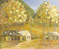 Texas:Early Texas Art - Regionalists, INEZ HUMMELBAUGH (1898-1989). Untitled. Oil on canvasboard. 20in. x24in.. Signed lower right. Inez Hummelbaugh was both a...