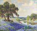 Texas:Early Texas Art - Impressionists, DOLLIE NABINGER (1905-1988). Springtime in Texas. Oil oncanvas. 27in. x 33in.. Signed lower left. Titled verso. Dolli...