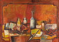 Texas:Early Texas Art - Modernists, DAVID ADICKES (b. 1927). Autumn Still Life, 1963. Oil onlinen. 21in. x 29in.. Signed lower right. Signed, dated, and ti...