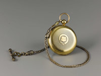 General JEB Stuart's Key-Wind Gold Pocket Watch A hinged, triple case, 52mm pocket watch, serial number 34474, inscribed...
