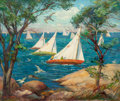 Fine Art - Painting, American:Modern  (1900 1949)  , MARGUERITE STUBER PEARSON (American, 1898-1978). Skirting theSail. Oil on canvas. 19-3/4 x 24 inches (50.2 x 61.0 cm). ...