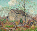 Fine Art - Painting, American:Antique  (Pre 1900), WILSON HENRY IRVINE (American, 1869-1936). Stone Barn. Oilon canvas. 25-1/4 x 30-1/4 inches (64.1 x 76.8 cm). Signed lo...