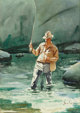 GERARD CURTIS DELANO (American, 1890-1972) The Trout Pool Watercolor on paper 20 x 14 inches (50.8 x 35.6 cm) (sheet)