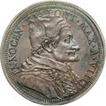 Italy:Papal States, Italy: Papal States. Innocent XI Piastra (Scudo of 80 Bolognini)1684 Year VIII AU55 PCGS,...
