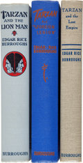 Books:Science Fiction & Fantasy, Edgar Rice Burroughs. Three Superb Tarzan Novels.... (Total: 3 Items)