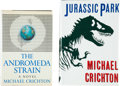 Books:Science Fiction & Fantasy, Michael Crichton. Two Crichton Classic Signed First Editions....(Total: 2 Items)