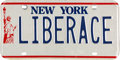 Movie/TV Memorabilia:Memorabilia, A Liberace Personalized License Plate, Circa 1980.... (Total: 2 Items)
