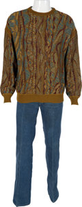 Music Memorabilia:Costumes, The Who - John Entwistle Owned and Worn Sweater and Jeans....(Total: 2 )