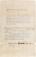 Miscellaneous:Ephemera, [Revolutionary War]. Paymaster's Appointment Signed....