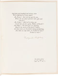 Autographs:Authors, Rudyard Kipling Signed Copy of His Poem, The Irish Guards....