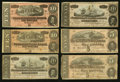 Confederate Notes:1864 Issues, T67 $20 1864 Two Examples. T68 $10 1864 Two Examples. T69 $5 1864 Two Examples.. ... (Total: 6 notes)
