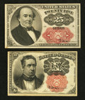 Fractional Currency:Fifth Issue, Fr. 1265 10¢ Fifth Issue Very Fine. Fr. 1309 25¢ Fifth Issue ChoiceAbout Uncirculated.. ... (Total: 2 notes)