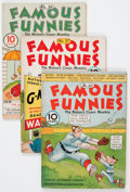Golden Age (1938-1955):Miscellaneous, Famous Funnies Group (Eastern Color, 1935-38) Condition: Average VG.... (Total: 9 Comic Books)